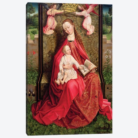 Virgin and Child  Canvas Print #BMN4417} by Master of the Embroidered Foliage Canvas Art