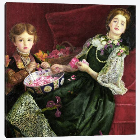 Pot Pourri  Canvas Print #BMN441} by Sir John Everett Millais Canvas Wall Art