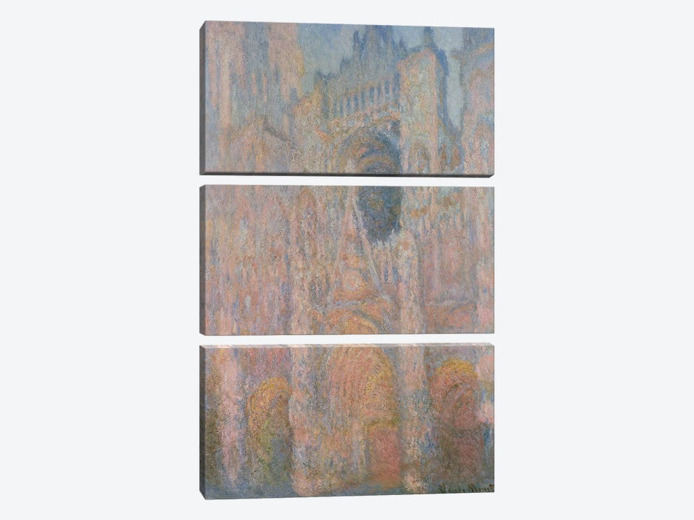 Rouen Cathedral, 1891 3-piece Canvas Artwork