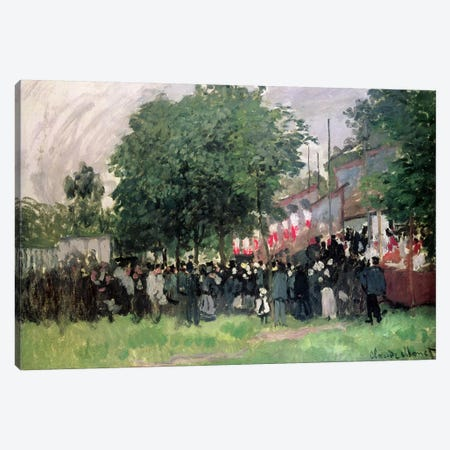 The Fourteenth of July  3-Piece Canvas #BMN4423} by Claude Monet Canvas Art