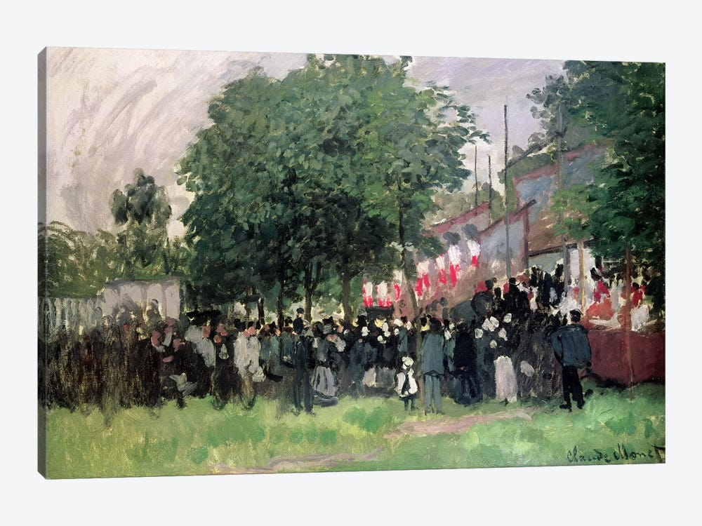 The Fourteenth of July  by Claude Monet 1-piece Canvas Art Print