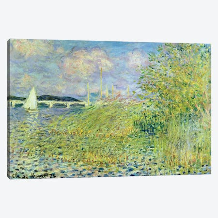 The Seine at Chatou near Argenteuil, 1878 Canvas Print #BMN4424} by Claude Monet Art Print
