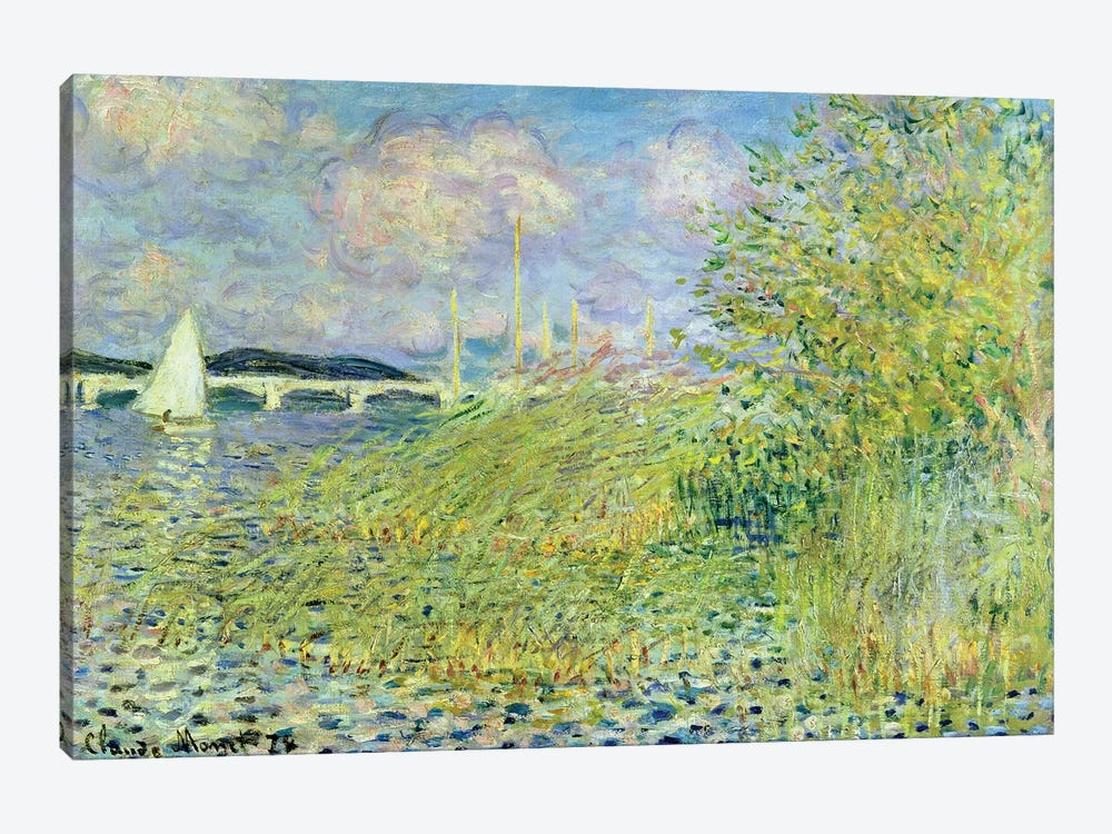 The Seine at Chatou near Argenteuil, 1878 by Claude Monet 1-piece Canvas Artwork