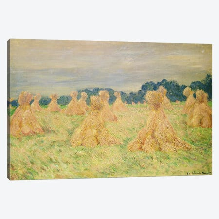 The Small Haystacks, 1887 Canvas Print #BMN4425} by Claude Monet Canvas Print