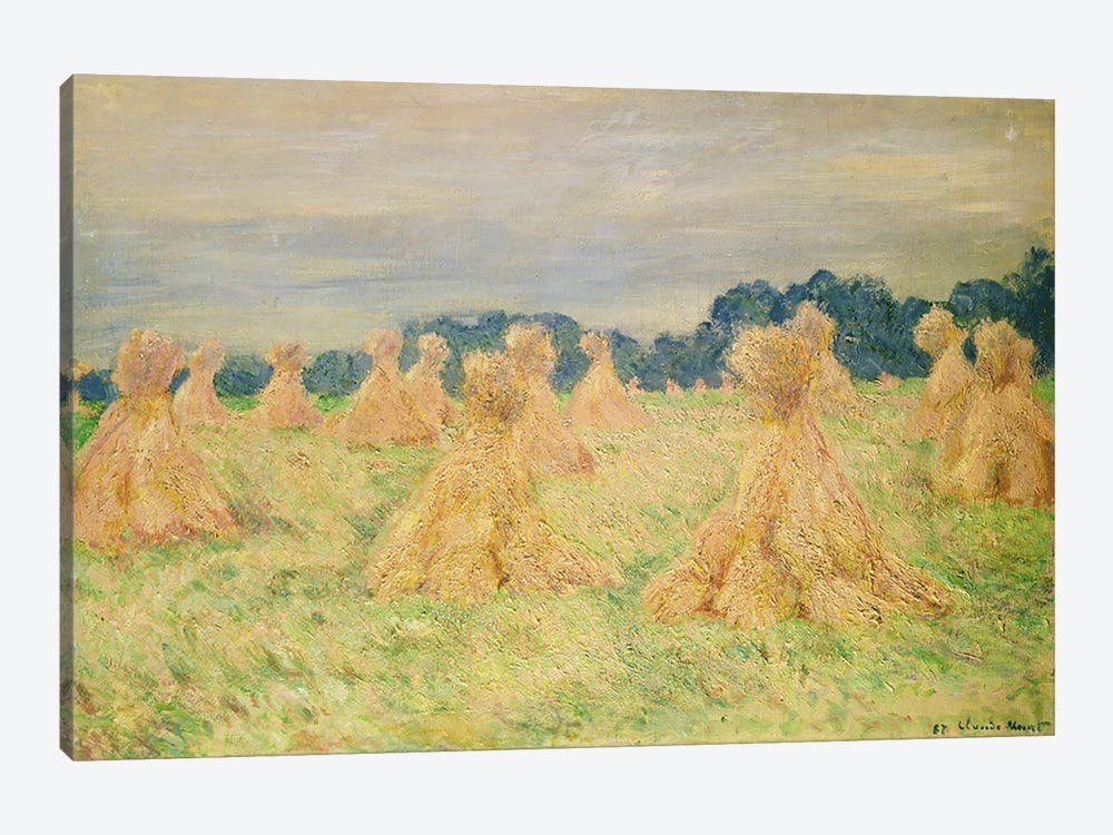 The Small Haystacks, 1887 by Claude Monet 1-piece Canvas Art Print