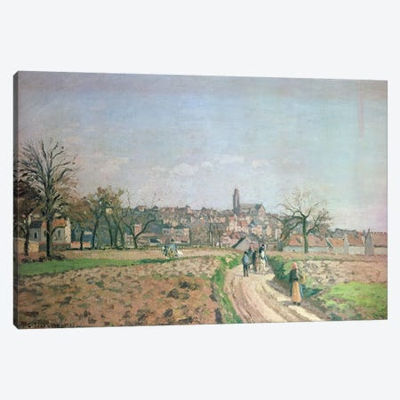 View of Pontoise, 1873 Canvas Print #BMN4426} by Camille Pissarro Canvas Print