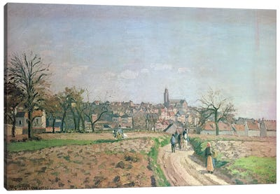 View of Pontoise, 1873 Canvas Art Print