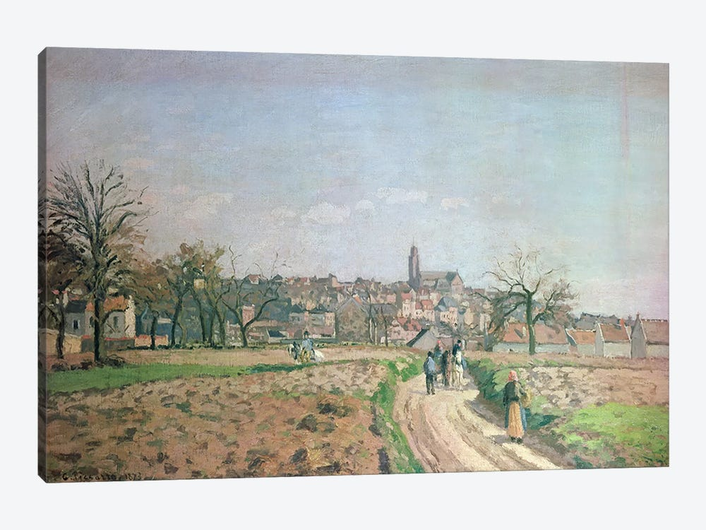 View of Pontoise, 1873 by Camille Pissarro 1-piece Canvas Wall Art