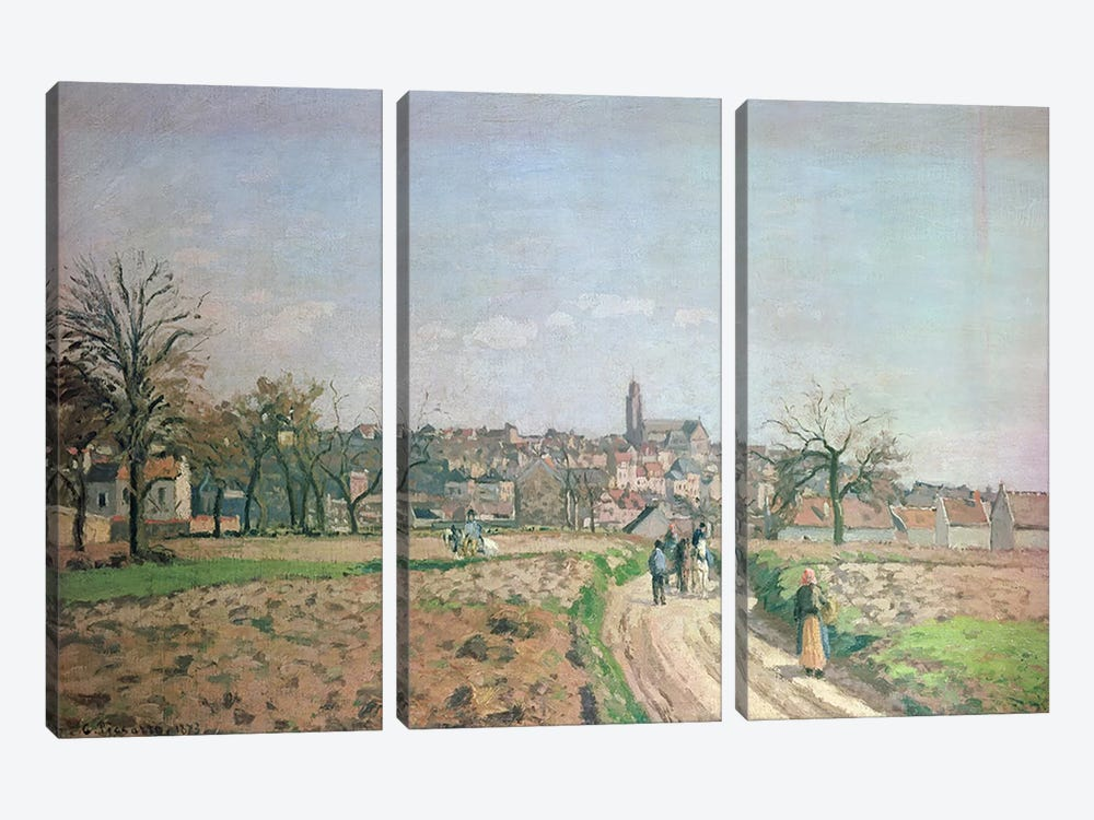 View of Pontoise, 1873 by Camille Pissarro 3-piece Canvas Wall Art