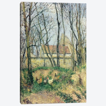 The Path of the Wretched, 1878 3-Piece Canvas #BMN4427} by Camille Pissarro Canvas Print