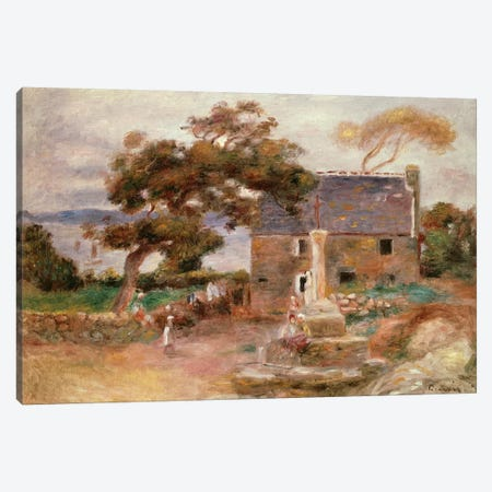 The Farmhouse at Cagnes Canvas Print #BMN4429} by Pierre-Auguste Renoir Canvas Artwork