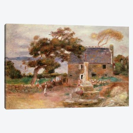 The Farmhouse at Cagnes Canvas Print #BMN4429} by Pierre-Auguste Renoir Canvas Artwork