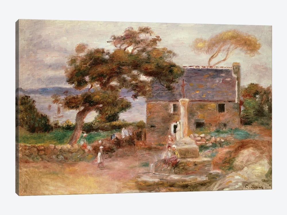 The Farmhouse at Cagnes by Pierre-Auguste Renoir 1-piece Canvas Art Print
