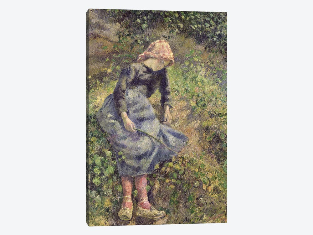 Girl with a Stick, 1881  by Camille Pissarro 1-piece Canvas Wall Art