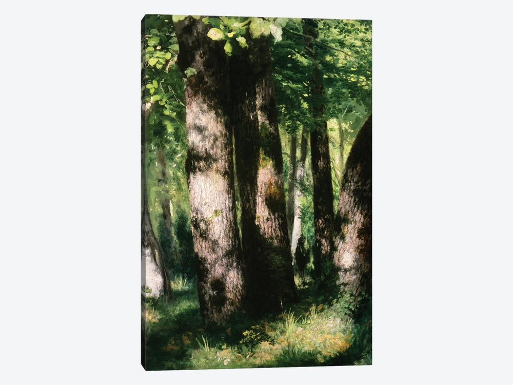 In the Forest of Fontainebleau by Pierre-Auguste Renoir 1-piece Canvas Art Print