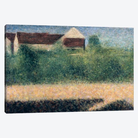 Houses and Gardens Canvas Print #BMN4431} by Georges Seurat Canvas Print