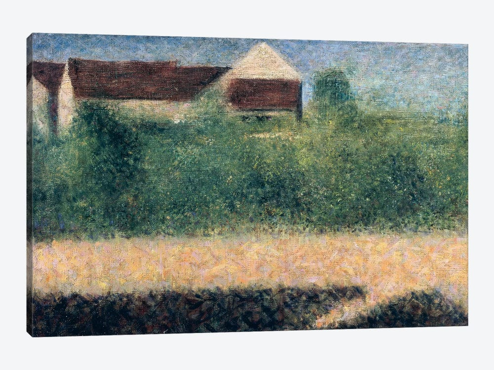 Houses and Gardens by Georges Seurat 1-piece Canvas Wall Art