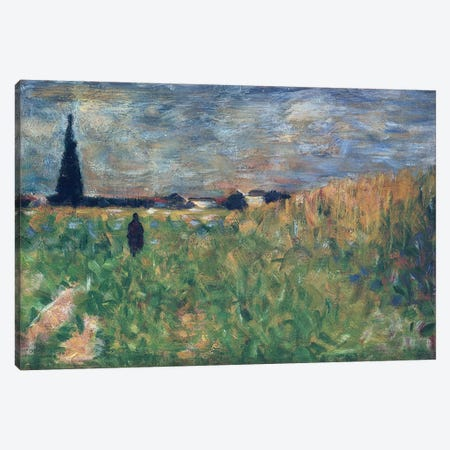 Fields in Summer Canvas Print #BMN4432} by Georges Seurat Canvas Art Print
