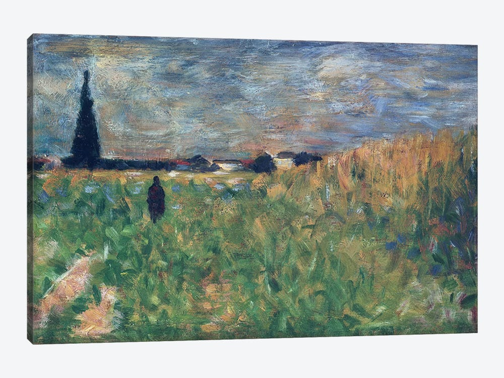 Fields in Summer by Georges Seurat 1-piece Art Print
