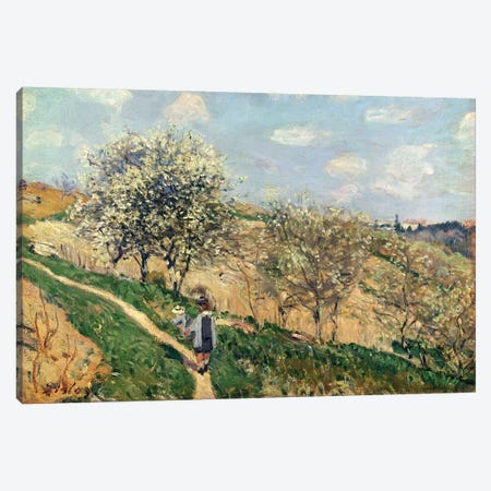 Springtime at Bougival  3-Piece Canvas #BMN4433} by Alfred Sisley Canvas Art Print
