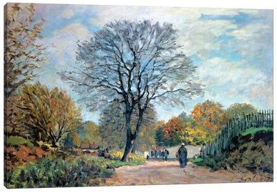 A Road in Seine-et-Marne, 1878 Canvas Art Print