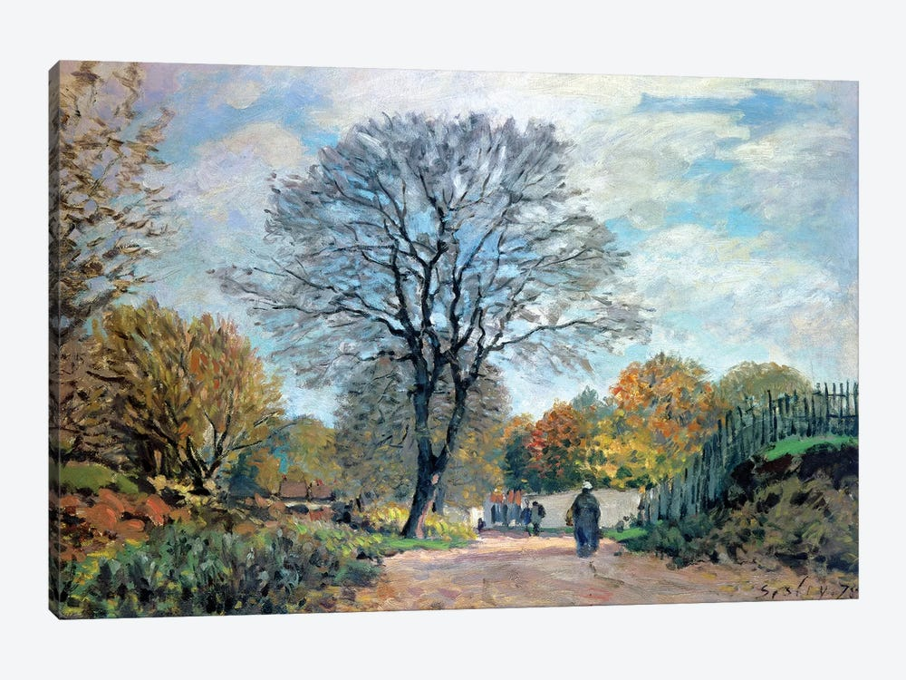 A Road in Seine-et-Marne, 1878 by Alfred Sisley 1-piece Art Print