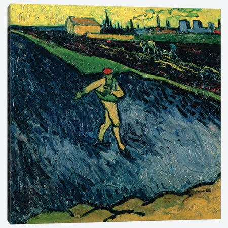 The Sower, 1888  Canvas Print #BMN4436} by Vincent van Gogh Canvas Art