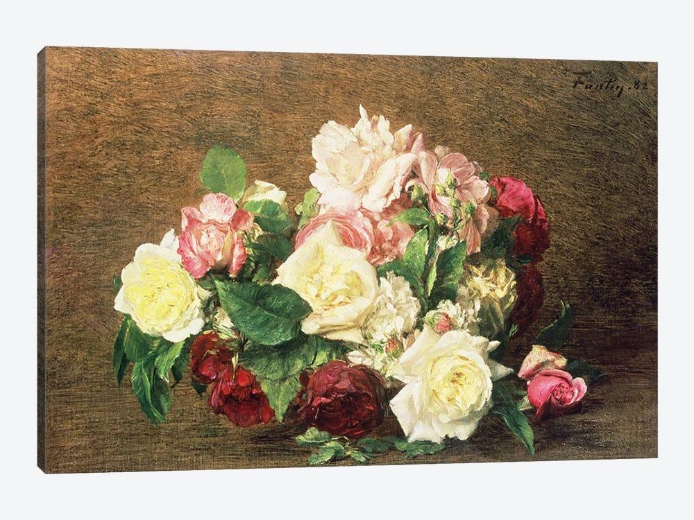 Roses by Ignace Henri Jean Theodore Fantin-Latour 1-piece Art Print
