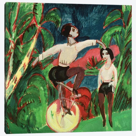 Unicycle Rider, 1911  Canvas Print #BMN4439} by Ernst Ludwig Kirchner Canvas Art Print