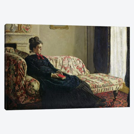 Meditation, or Madame Monet on the Sofa, c.1871  Canvas Print #BMN443} by Claude Monet Canvas Art