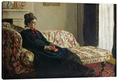 Meditation, or Madame Monet on the Sofa, c.1871  Canvas Print #BMN443