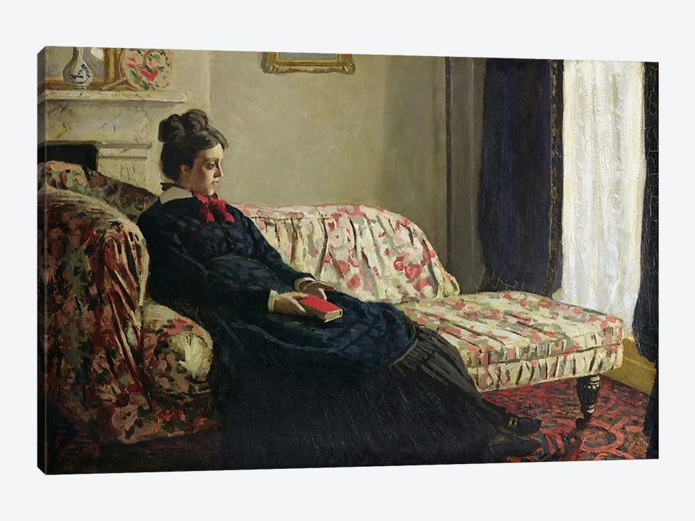 Meditation, or Madame Monet on the Sofa, c.1871  by Claude Monet 1-piece Canvas Print