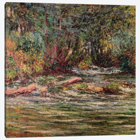 The River Epte at Giverny, 1884 Canvas Print #BMN4440} by Claude Monet Canvas Art