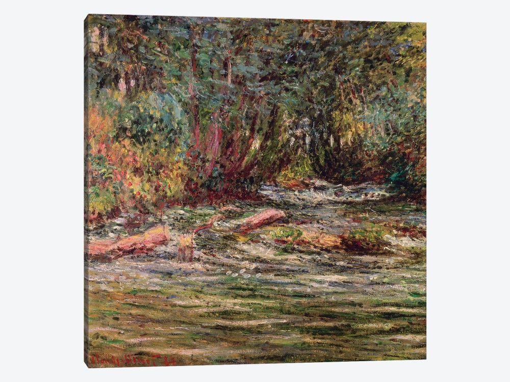 The River Epte at Giverny, 1884 by Claude Monet 1-piece Canvas Art
