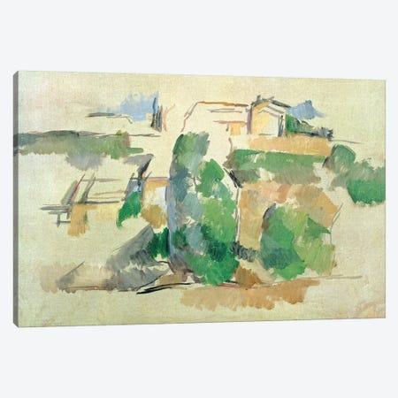 House on a hill close to Aix en Provence Canvas Print #BMN4443} by Paul Cezanne Canvas Art