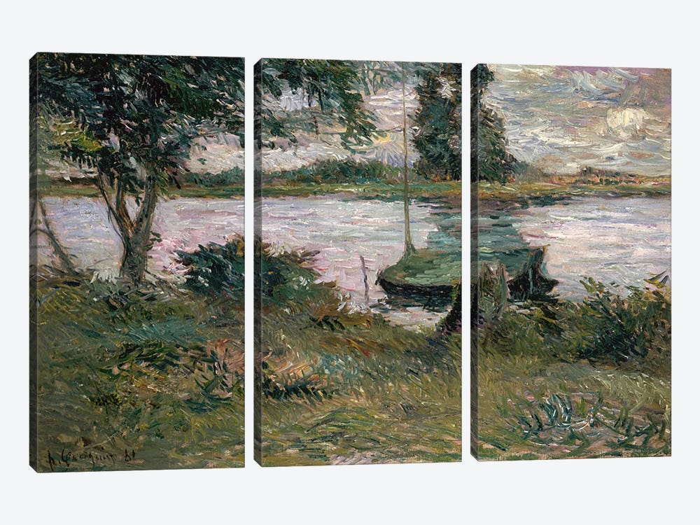 Riverbank  by Paul Gauguin 3-piece Canvas Art