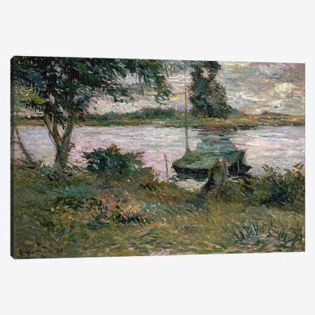 Riverbank  Canvas Print #BMN4444} by Paul Gauguin Canvas Print