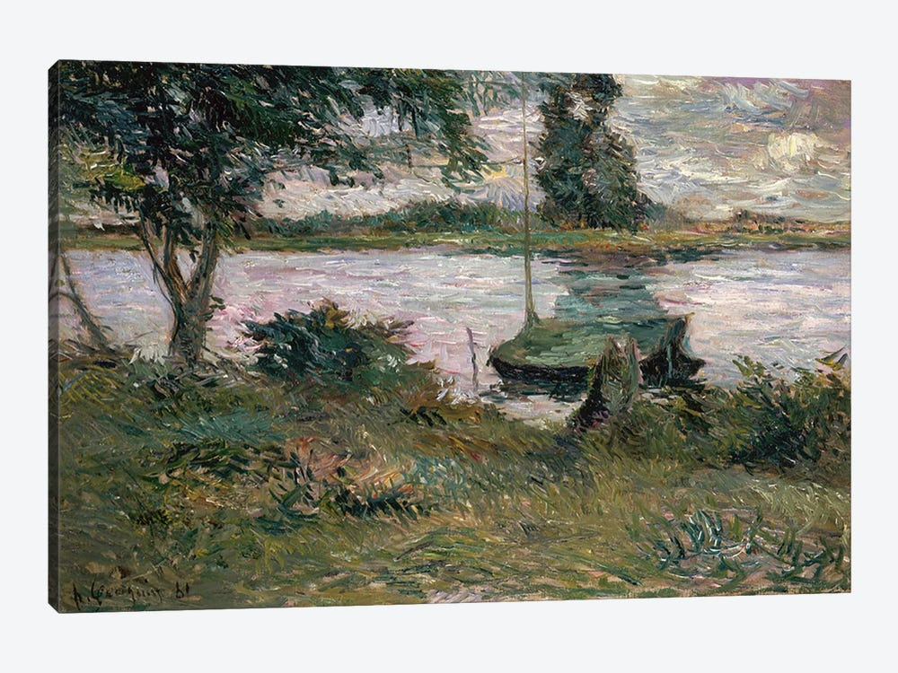 Riverbank  by Paul Gauguin 1-piece Canvas Artwork