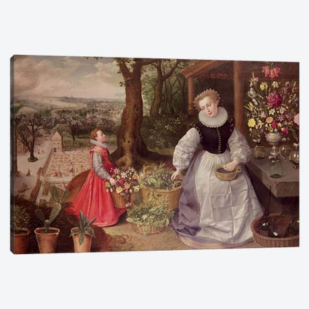 Spring, 1595  Canvas Print #BMN4446} by Lucas van Valckenborch Canvas Print