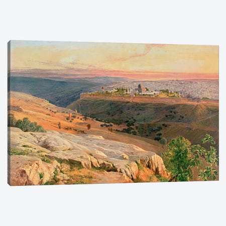 Jerusalem from the Mount of Olives, 1859 Canvas Print #BMN4447} by Edward Lear Canvas Art Print