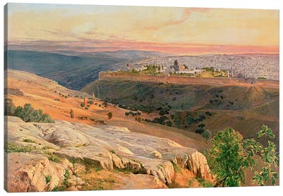 Jerusalem from the Mount of Olives, 1859 Canvas Art Print