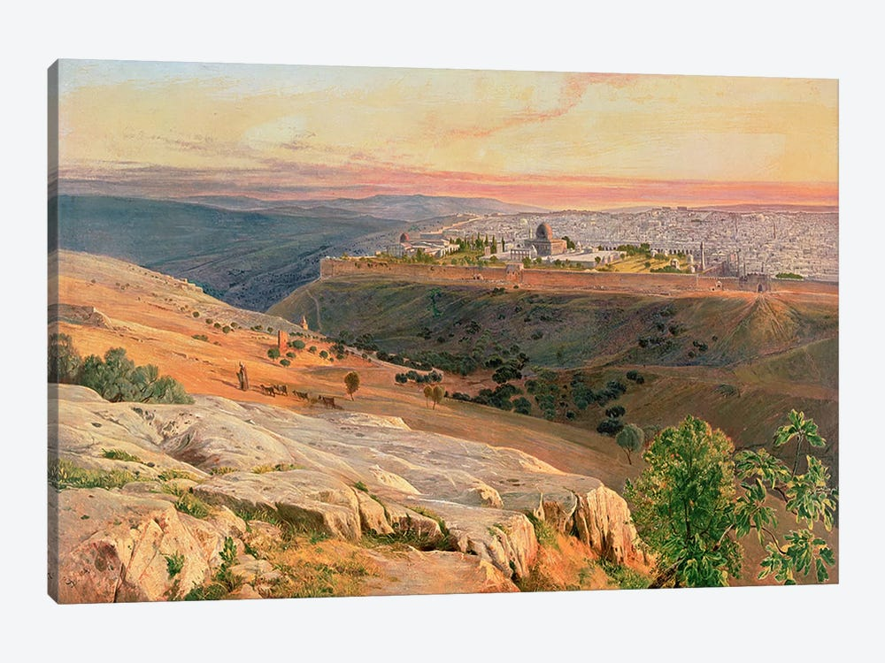Jerusalem from the Mount of Olives, 1859 by Edward Lear 1-piece Art Print