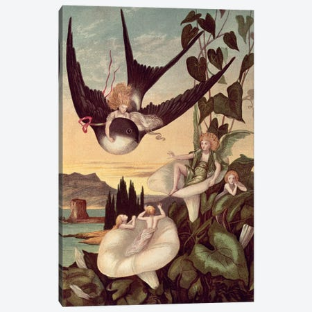 Illustration to 'Thumbkinetta', by Hans Christian Andersen  Canvas Print #BMN4452} by Eleanor Vere Boyle Canvas Print