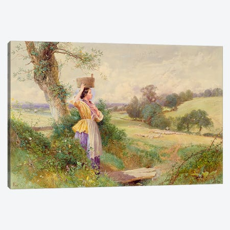 The Milkmaid, 1860  Canvas Print #BMN4453} by Myles Birket Foster Art Print