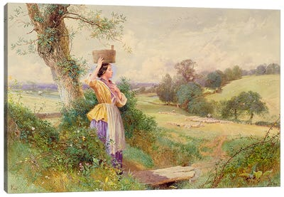The Milkmaid, 1860 Canvas Art Print