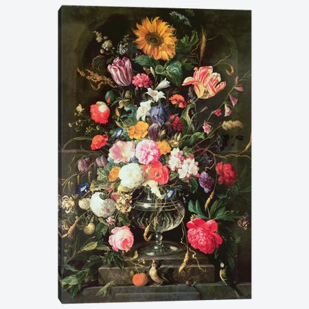 Still Life Canvas Print #BMN4454} by Cornelis de Heem Canvas Artwork