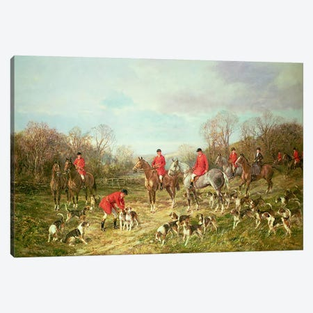 The Meet Canvas Print #BMN4456} by Heywood Hardy Canvas Art