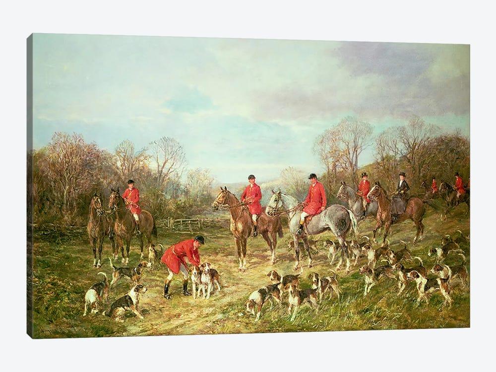 The Meet by Heywood Hardy 1-piece Canvas Art Print