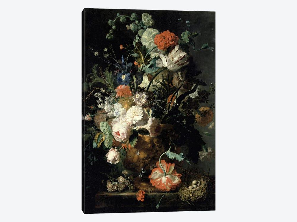 Roses, Flowers, Carnations by Jan van Huysum 1-piece Canvas Art