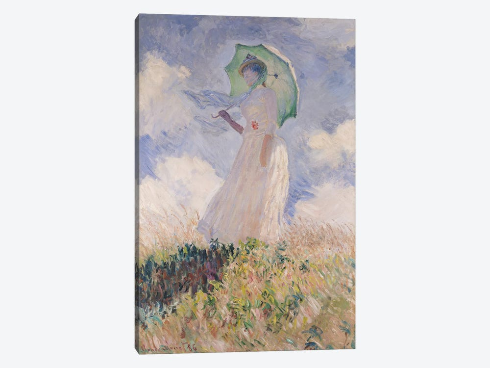 Woman with Parasol turned to the Left, 1886  by Claude Monet 1-piece Art Print